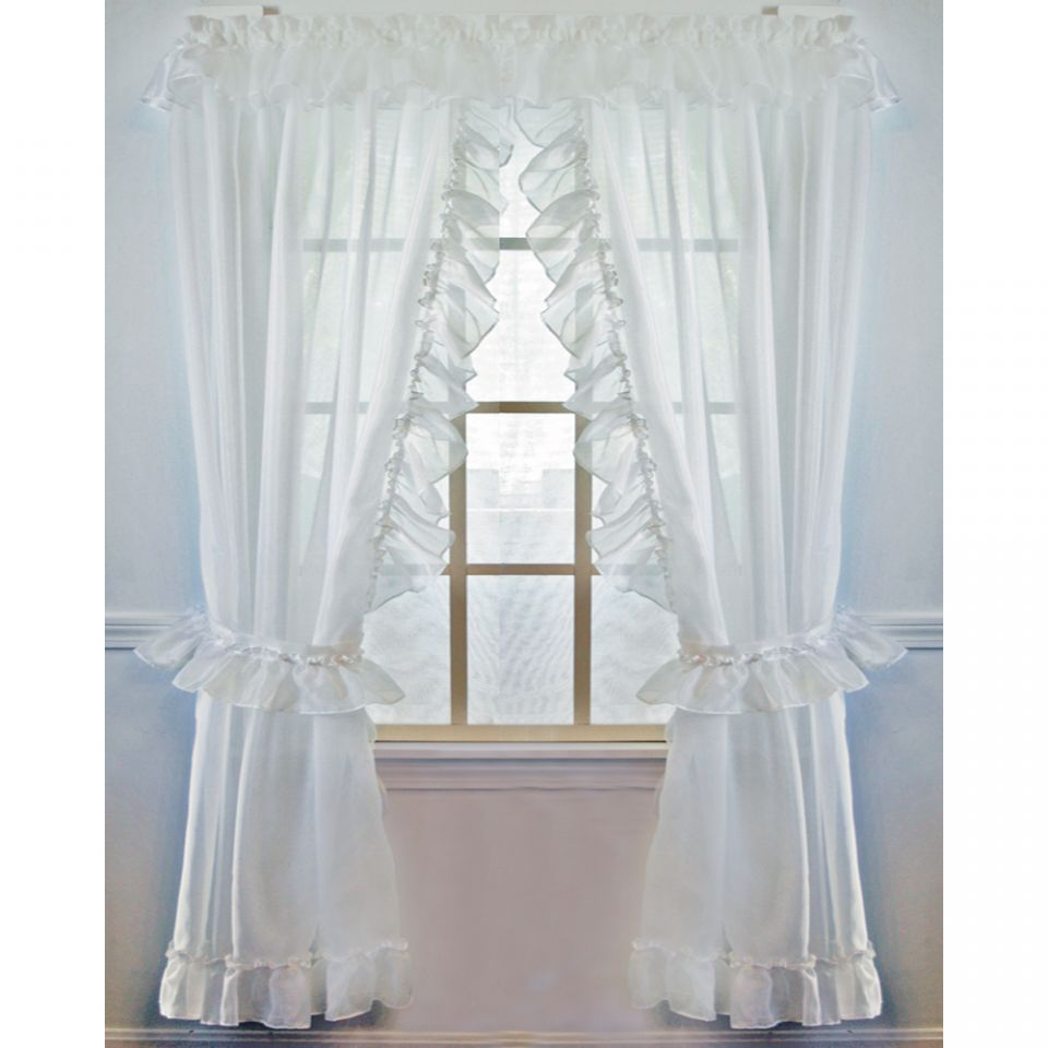 Jessica Sheer Ruffled Priscilla Curtain