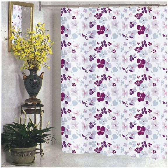 Extra Wide 108 Inch X 72 Floral Fabric Shower Curtain
