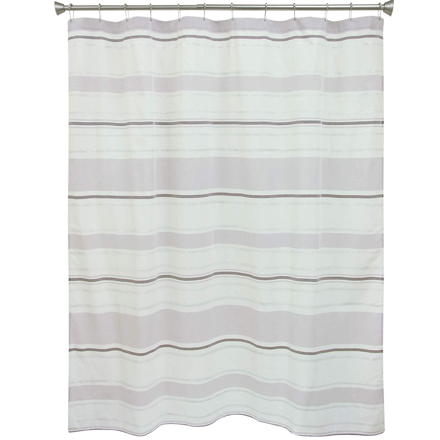 Bacova Kayden Purple Stripe Fabric Shower Curtain