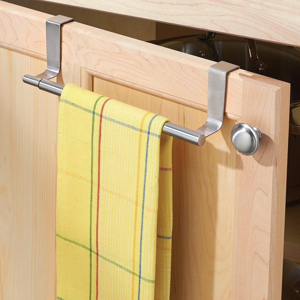 InterDesign Forma Over-the-Cabinet Expandable Kitchen Dish Towel Bar Holder