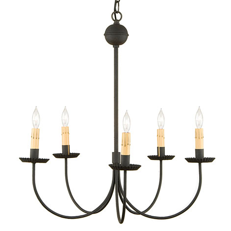 huge selection of df8e8 da4ae Large 5-Arm Primitive Chandelier in Textured Black