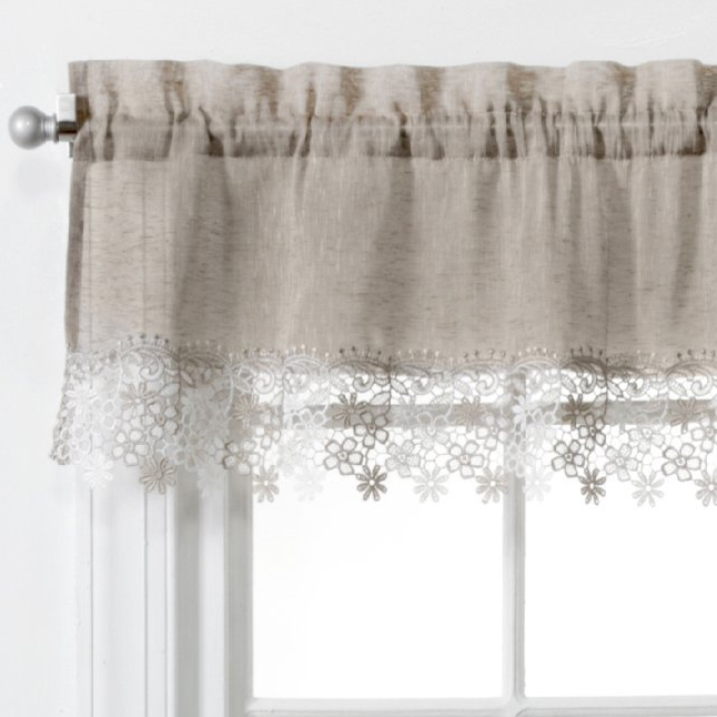 Lillian Faux Linen Valance With Macrame Trim Altmeyer S