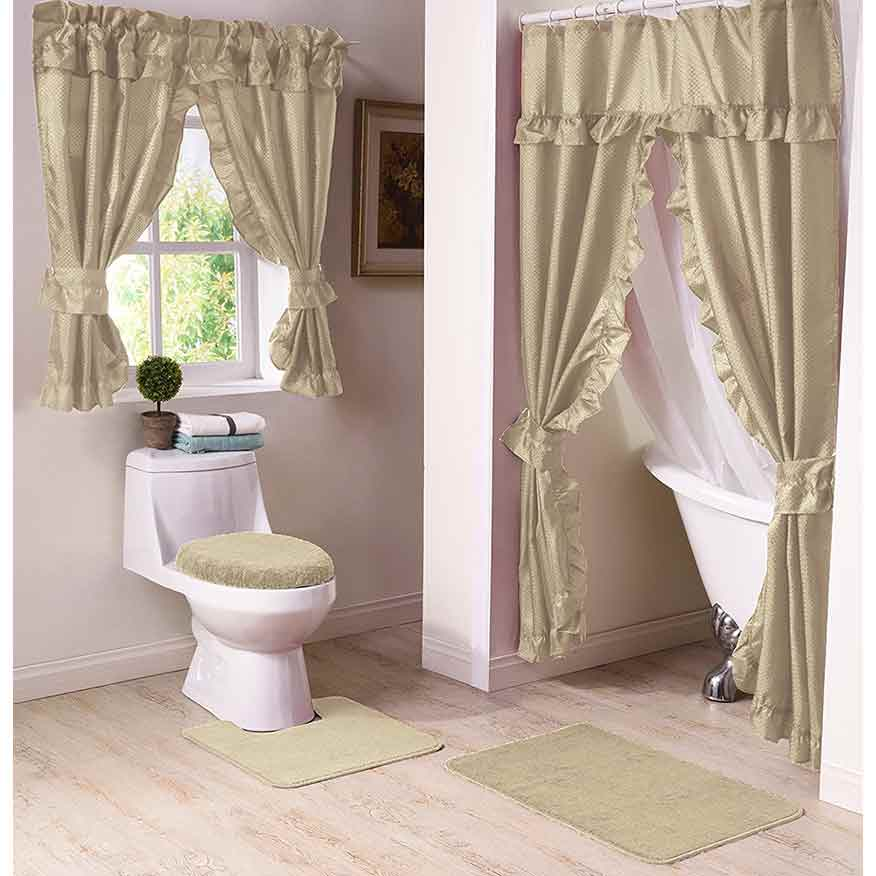 Linen Double Swag Shower Curtain Altmeyer S Bedbathhome