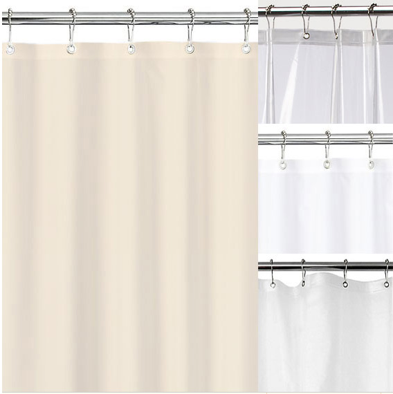 Maytex No More Mildew Premium 10 Gauge Shower Curtain Liner ...