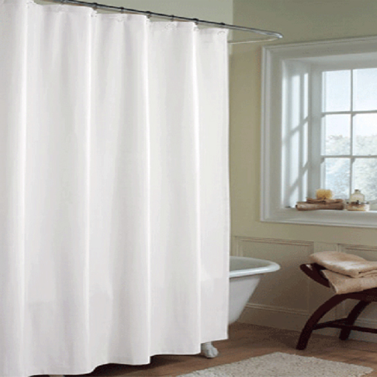 Solid WHITE Microfiber Shower Curtain Or Liner BedBathHomeCom