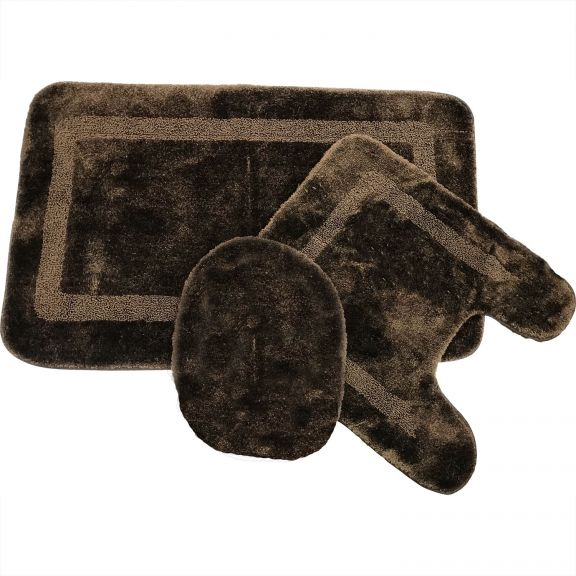 Mohawk Facet Chocolate Brown Bath Rug