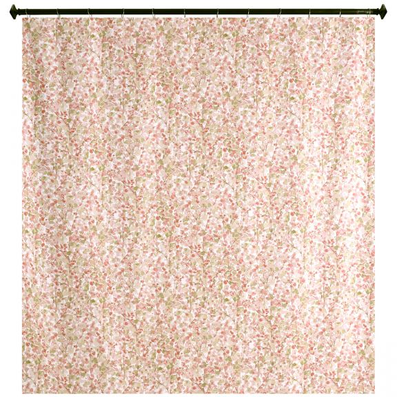 Monets Garden Blush Fabric Shower Curtain By M Style