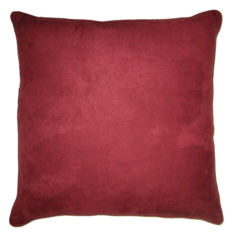 Brentwood Faux Suede Mulberry Red Toss Pillow Altmeyer S