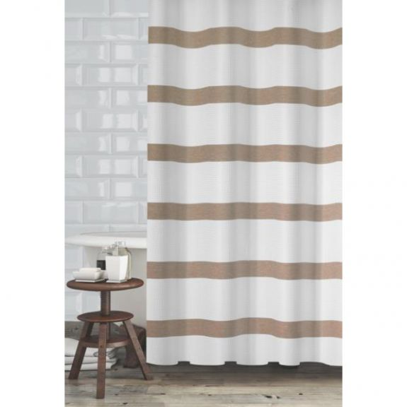 Mulberry Taupe Shower Curtain By Popular Bath