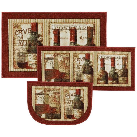 Mohawk French Cellar 3 Piece Kitchen Rug Set