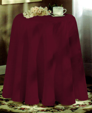 Concord 70in Round Tablecloth Burgundy Bedbathhome Com