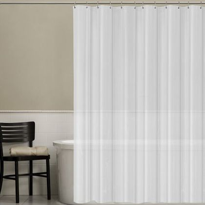 maytex peva vinyl parallel shower curtain or liner