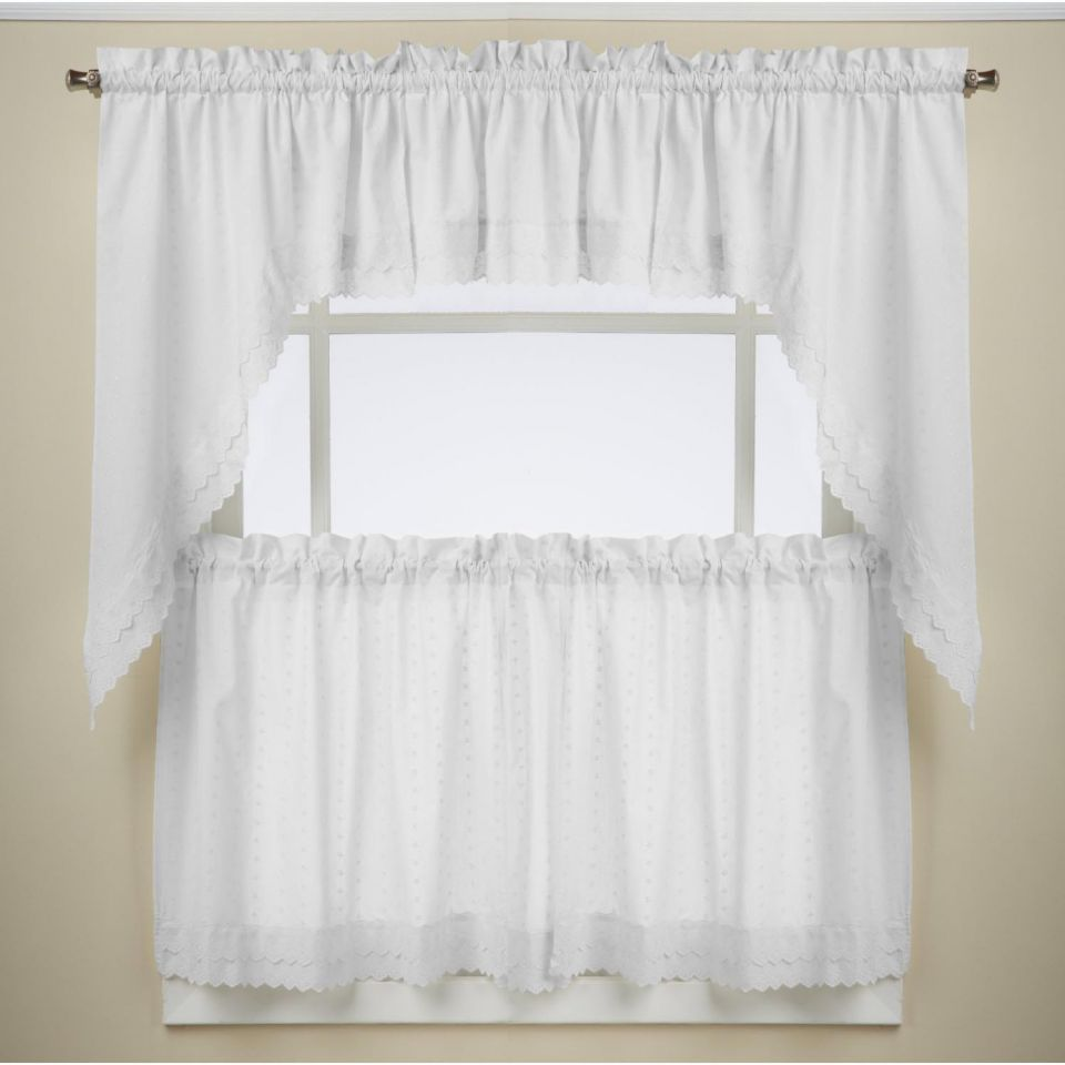 White Eyelet Kitchen Curtains Navy Kitchen Curtains
