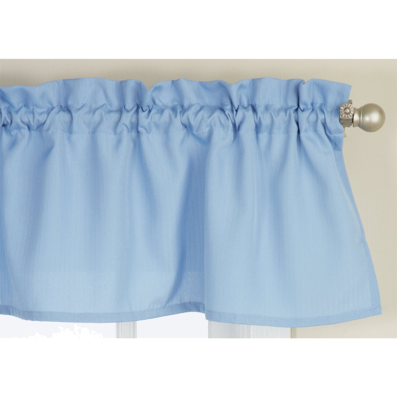Ribcord Light Blue Solid Tailored Valance