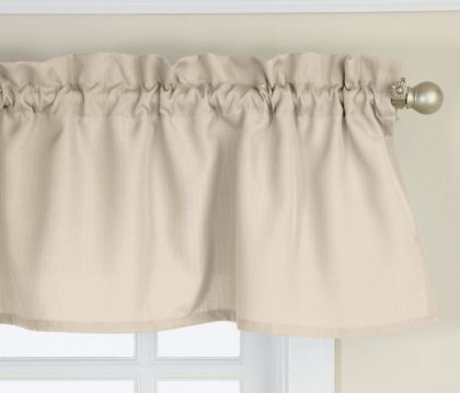 ribcord buttercream ivory solid tailored valance