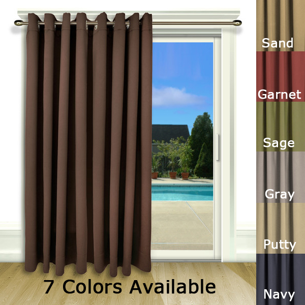 Ultimate Blackout Patio Door Curtain Panel with Detachable Wand Handle
