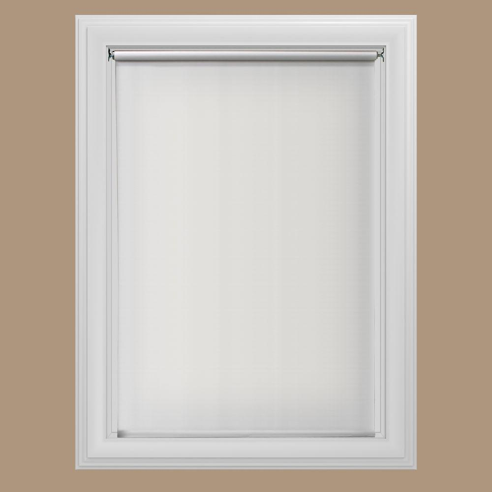 Roll down shades bali layered sheers modern white window for Wallpaper roller home depot