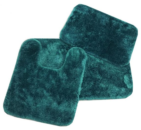 Royale HUNTER GREEN Bath Rug Ensemble