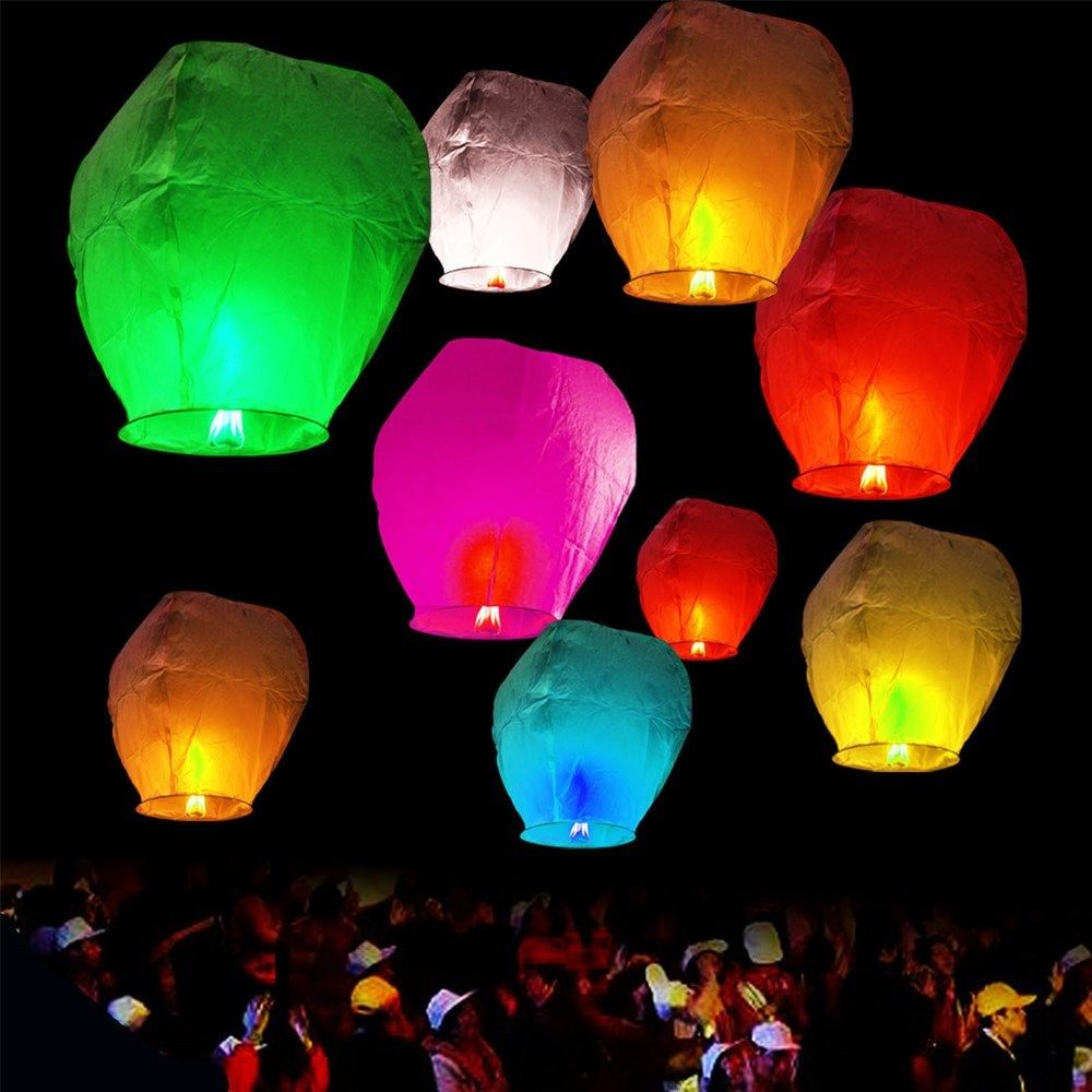 Sky Lanterns For Sale >> As Seen On Tv Sky Lantern Colored Trance Balloon