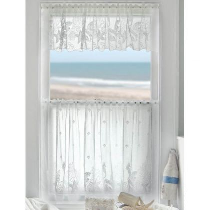 seascape lace curtains by heritage lace