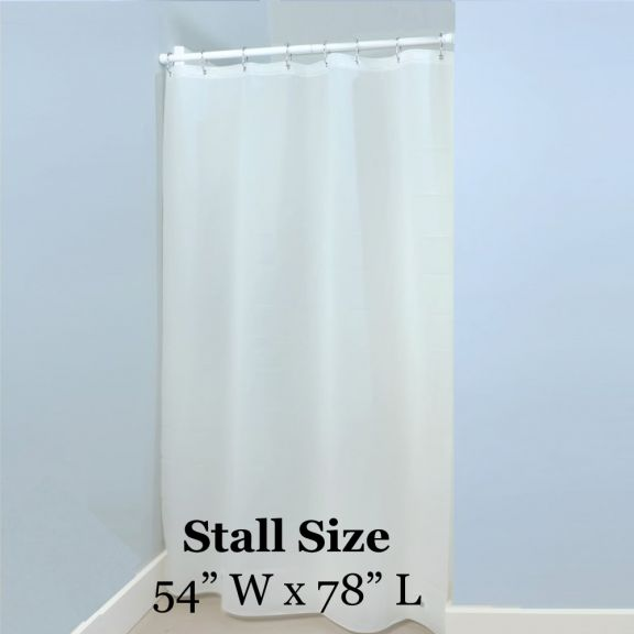 WHITE Shower Stall Liner - 54in x 78in