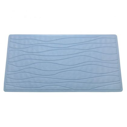 Slate Blue Non Slip Rubber Bath Tub Mat
