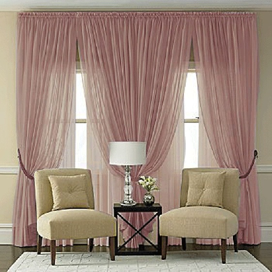 Splendor Plum Batiste Curtain Panel