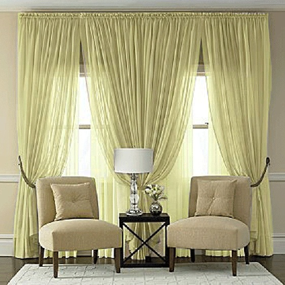 Splendor Maize Yellow Batiste Curtain Panel