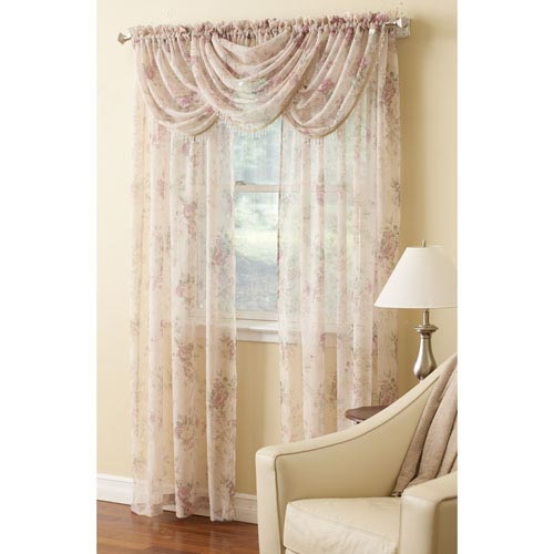 Laura Ashley Stowe Floral Sheer Curtain Panel Altmeyer S