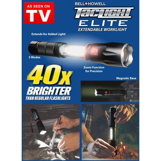As Seen on TV Bell + Howell Tac Light Elite LED Flashlight Lantern Combo