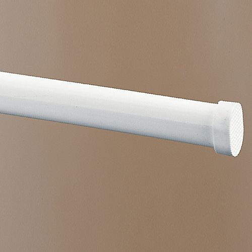 White Oval Spring Tension Rod Altmeyer S Bedbathhome
