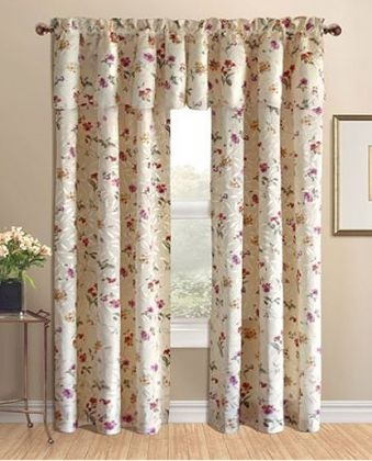 Whitfield Fl Jacquard Tailored Curtain Panel Or Valance