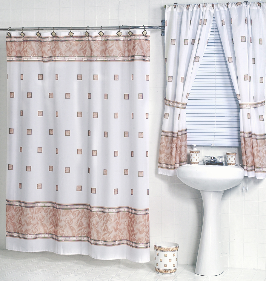Curtains In Bathroom: Windsor Ivory Fabric Shower Curtain