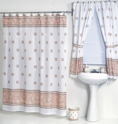 Windsor Ivory Fabric Shower Curtain W Available Matching Window