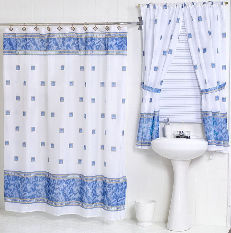 Windsor Slate Blue Fabric Shower Curtain W Available