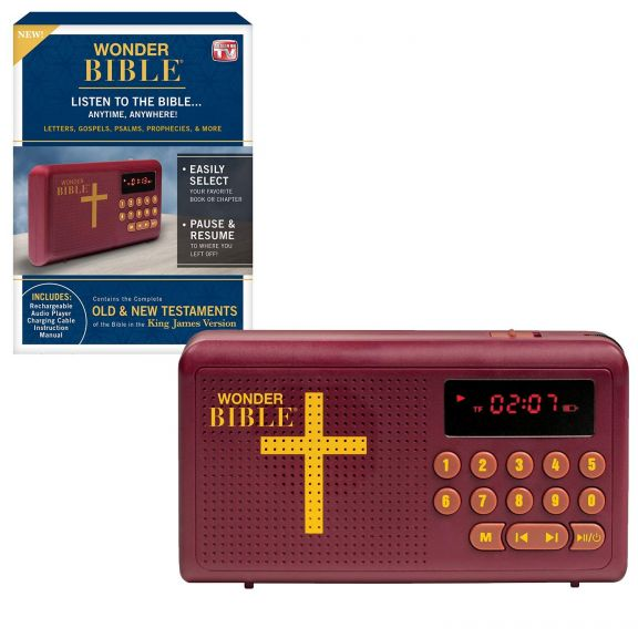 Wonder Bible Old and New Testament KJV Audio Book As Seen on TV
