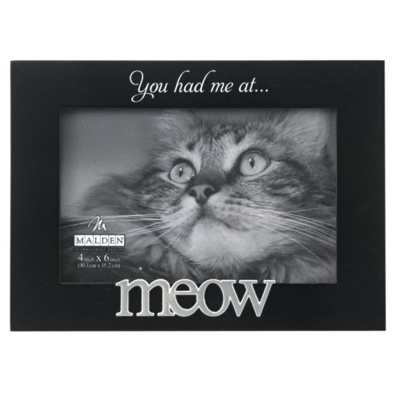 Malden You Had Me at Meow Expressions Black Wood Picture Frame